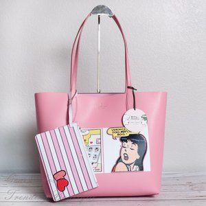NWT Kate Spade x Archie Comics Reversible Tote